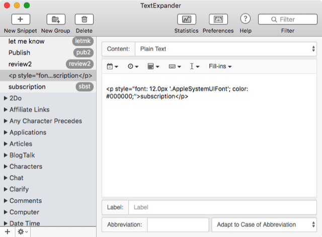TextExpander_6_interface