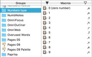 number macros