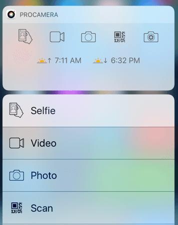 Pro Camera app