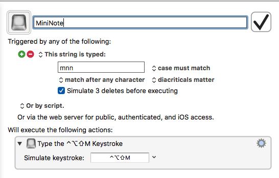 Keyboard Maestro trigger