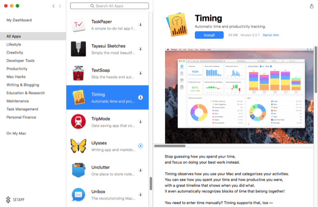 Timing 2 Automatically Tracks How You Spend Your Time | Mac