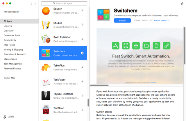 Switching App Groups with Switchem and Keyboard Maestro